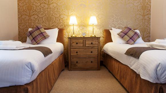 Twin rooms available at the Kinlochewe Hotel in Torridon